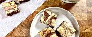 Brownies Marbrés au Gâteau au Fromage