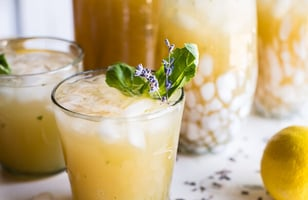 Photo Recette Lavender Basil Lemonade