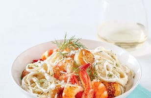 Photo Recette Linguines Alfredo aux Fruits de Mer