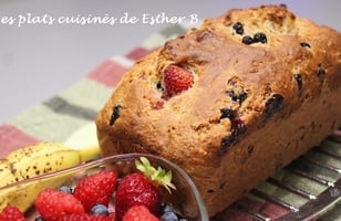 Photo Recette Pain aux Bananes Explosion de Fruits