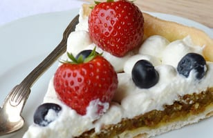 Photo Recette Tartes pistache Fruits Rouges Sans Gluten et Sans Lactose