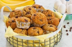 Photo Recette Muffins aux Bananes et aux Pépites de Chocolat