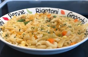 Photo Recette Pâtes Beurre à L'ail et Légumes