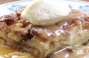 Photo Recette Pouding au Pain à la Tarte aux Pommes et au Caramel