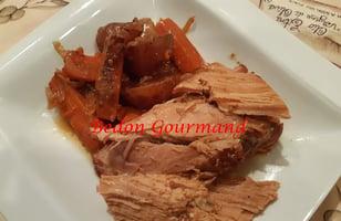 Photo Recette Rôti de Porc Sauce Moutarde et Miel à la Mijoteuse ou au Four