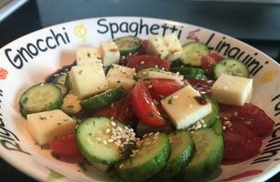 Photo Recette Salade de Concombres, Tomates, Fromage Vinaigre Balsamique