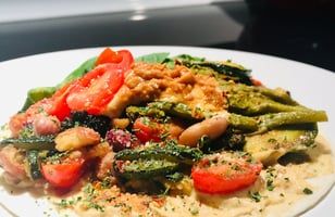 Photo Recette Tortillas Humus et Légumes
