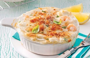 Photo Recette Gratin de Fruits de Mer au Gruyère