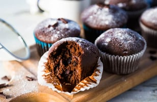 Photo Recette Muffins Camouflage Choco-orange