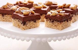 Photo Recette Carrés au Chocolat, Arachides et Fromage