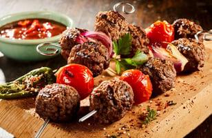 Photo Recette Brochettes de Boulettes de Viande aux Tomates Cerises
