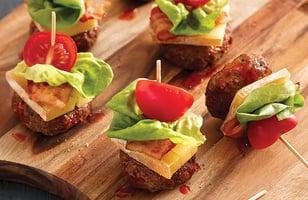 Photo Recette Brochettes de Hamburgers au Fromage Le Fêtard