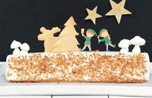 Photo Recette Bûche de Noël Vanille & Caramel au Beurre Salé