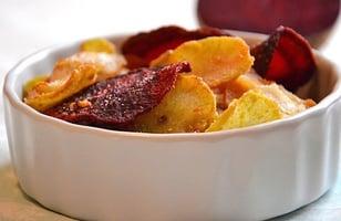 Photo Recette Chips de Légumes Racines { Betterave, radis noir et patate douce }