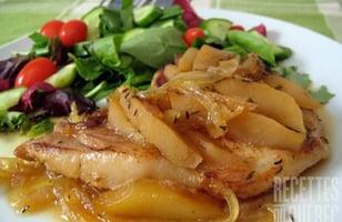 Photo Recette Côtelette de Porc aux Pommes et à L'érable