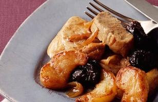 Photo Recette Filet Mignon de Porc aux Pommes et aux Pruneaux