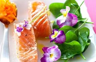 Photo Recette Filets de Saumon aux Fleurs