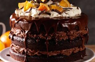 Photo Recette Gâteau Décadent au Chocolat et à L'orange