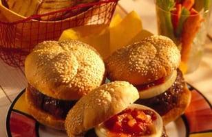 Photo Recette Hamburgers au Fromage Tex Mex et Salsa