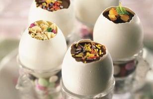 Photo Recette Oeufs de Pâques aux 3 chocolats