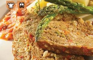 Photo Recette Pain de viande au Veau de Grain du Québec, Sauce Tomate et Pesto