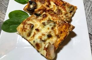 Photo Recette Pizza Pâte Mince avec Légumes