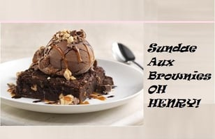 Photo Recette Sundae Aux Brownies OH HENRY!