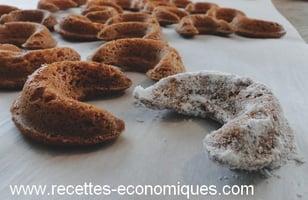 Photo Recette Demi Lunes à la Vanille