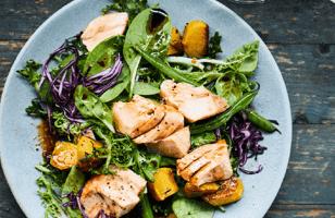 Photo Recette Salade D'automne au Saumon à L'asiatique