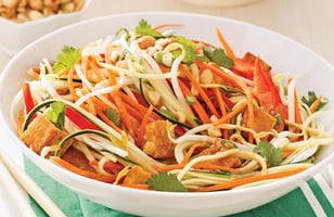 Photo Recette Salade de Courgettes et Tofu Façon Pad Thaï