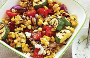 Photo Recette Salade de Légumes Grillés et Vinaigrette au Yogourt et à L'aneth