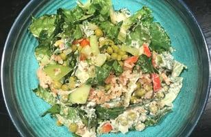 Photo Recette Salade Légumes, Riz et Sauce Crémeuse