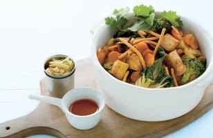 Photo Recette Tofu au Miel et Sésame Rôti sur la Plaque