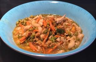 Photo Recette Soupe Poulet Légumes et Pâtes Sans Gluten