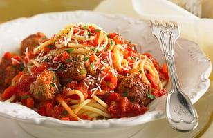 Photo Recette Spaghetti aux Boulettes au Parmesan à L'italienne