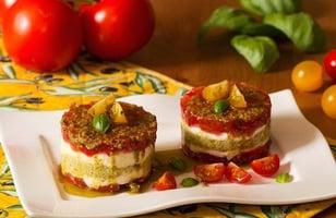 Photo Recette Tartare de Tomates et Mozzarella en Mille-Feuille