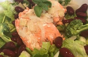 Photo Recette Truite Arc en Ciel sur Salade de Légumes