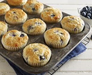Photo Recette Muffins à L'avoine et aux Bleuets