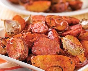 Photo Recette Pommes de Terre Tandoori et Ail Grillé