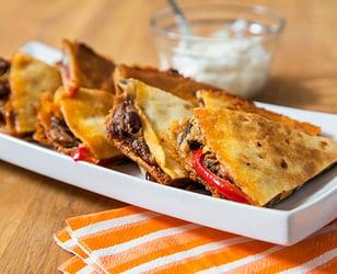 Photo Recette Quesadillas au Porc Effiloché et Haricots Noirs