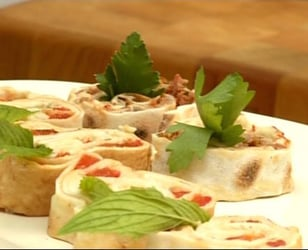 Photo Recette Roulés de Pita à L'hummus