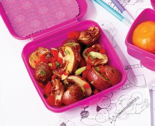 Photo Recette Salade de Pommes de Terre Grillées, de Poivrons Rouges et de Bacon