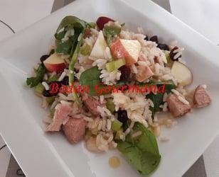 Photo Recette Salade de Riz au Porc et aux Pommes