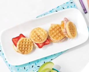 Photo Recette Sandwichs Mini-Gaufres en 2 Variantes