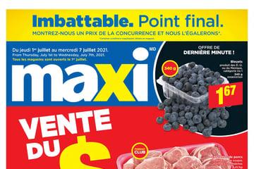 Circulaire Maxi du  1 au  7 juillet 2021