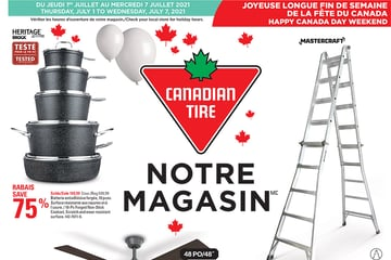 Circulaire Canadian Tire du 1 au 7 Juillet 2021