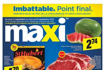 Circulaire Maxi du  2 au  8 septembre 2021