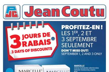 Circulaire Jean Coutu du 2 au 8 Septembre 2021