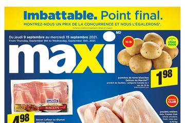 Circulaire Maxi du  9 au 15 septembre 2021