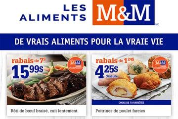 Circulaire Aliments M&M du 9 au 15 Septembre 2021